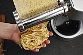Homemade poppyseed pasta