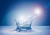Wassersplash im Gegenlicht