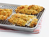 Haddock fillets coated with Panko