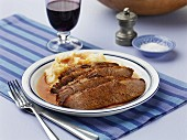 Beef brisket with mashed potatoes