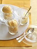 Mango and lime ice cream with cardamom