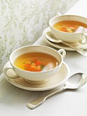 Chicken stock with vegetables