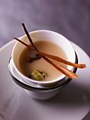 Spiced tea with milk