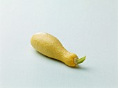 A yellow courgette