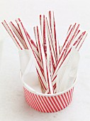 Red and white stripped candy canes (Christmas)