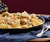 Pappardelle with chicken and herbs