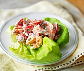 Salmon salad with cherry tomatoes for Mother's Day