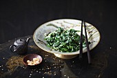 Spinach with sesame seeds (Korea)