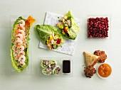 An arrangement of snacks