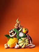 Obst und Gemüse Pyramide