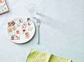 Pairs cards with pictures of food on a plate