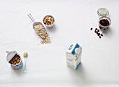 Ingredients for vegan muesli