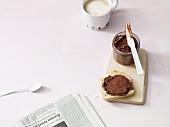 Vegan chocolate and peanut cream
