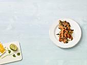Warmer Möhrensalat mit Pinienkernen