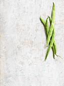 Vier grüne Bohnen