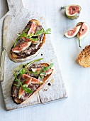 Crostini with Tuscan chicken liver pate and fresh figs