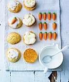 Carrot whoopie pies filled with buttercream
