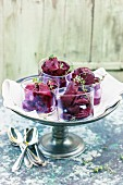 Redcurrant sorbet with thyme