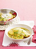 Fish, fennel and peas braise