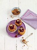 Almond muffins with cherries