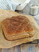 Bread on baking paper