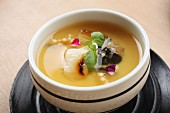 Chawanmushi – steamed egg cream with soy sauce, dashi, fish flakes and mirin (Japan)
