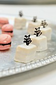 Petit fours and macaroons