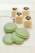 Macaroons and petit fours