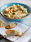 Artichoke dip with crostini