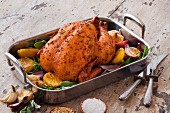 Roasted Chicken with lemon, sage and onion