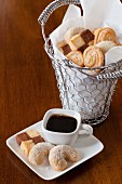 Coffee biscuits and coffee