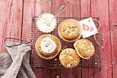 Carrot muffins with pears