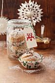 Christmas stollen muffins