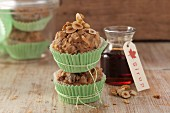Nut muffins with dates and maple syrup