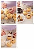 Tiramisu muffins being made