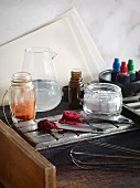 Ingredients and kitchen utensils for making confectionery