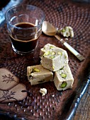 Sesame seed halva with pistachio nuts