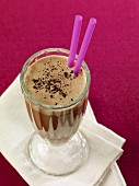 Coffee and chocolate shake with cocoa