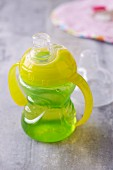 A toddler's drinking cup