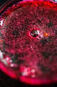 A glass of grape jam (close up)