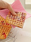 Oat waffles with berries