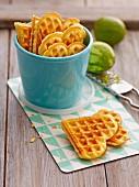 Lime waffles