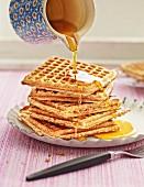 Wholemeal nut waffles