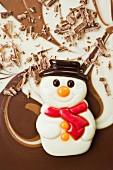 Schokoladen-Schneemann