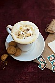 White hot chocolate with nuts