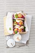 Falafeltaschen mit Krautsalat