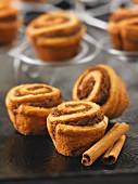 Cinnamon buns and cinnamon sticks