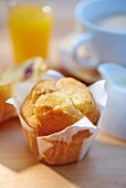 A vanilla muffin