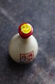 Oriental soy sauce in a decorative bottle