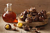 Roasted chestnuts and sea buckthorn syrup